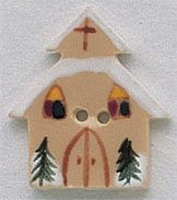 86159 - Church With Snow 7/8in x 1in - 1 per pkg
